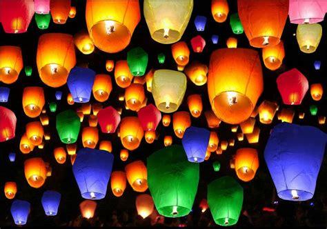 50pcs mix color chinese paper lanterns sky fire