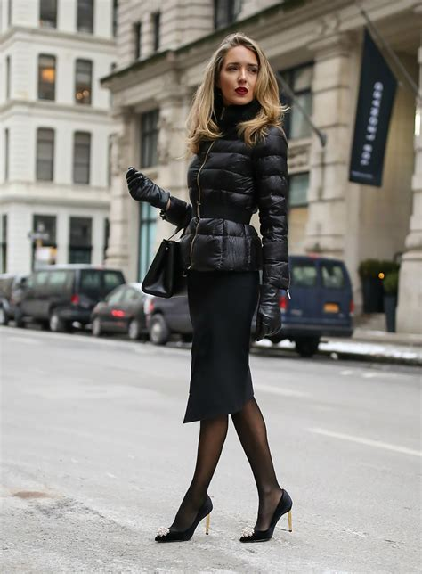 black winter outfit ideas 2018 fashion trends