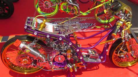 modifikasi motor matic drag race kinclong honda beat