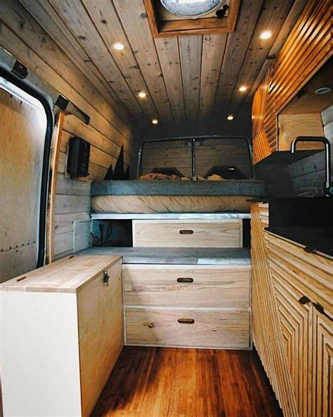 20 awesome wood interior ideas sprinter van cer
