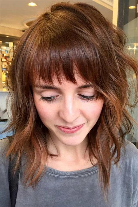 36 modern medium hairstyles bangs bangs medium hair