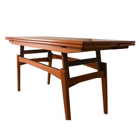 danish teak convertible dining coffee table chairish