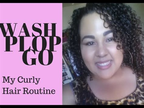 curly hair routine wash plop 3b 3c youtube