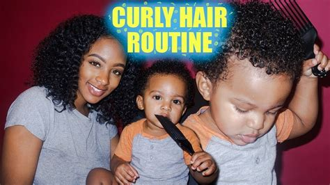 mommy toddler curly hair wash routine 3c 3b