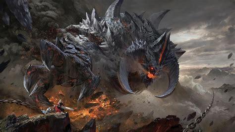 fantasy monster epic battle 4k 115 wallpaper
