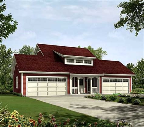 4 car apartment garage style 57162ha carriage architectural