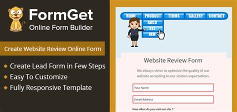 website review form developer website proprietor formget