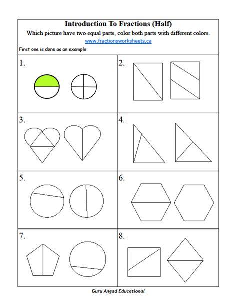 2nd grade math basic fractions worksheets steemit