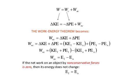 work energy theorem summary 7 2015