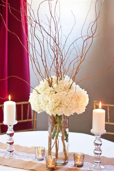 curly willow hydrangea centerpiece diy wedding centerpiece fresh