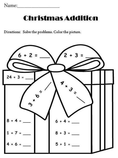 free christmas activity addition grade pinterest math christmas
