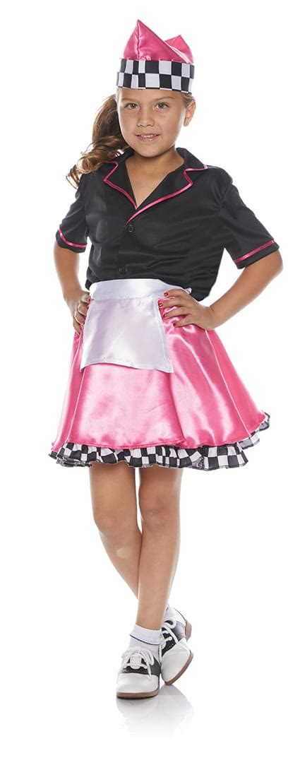 pink 50s car hop child halloween costume walmart