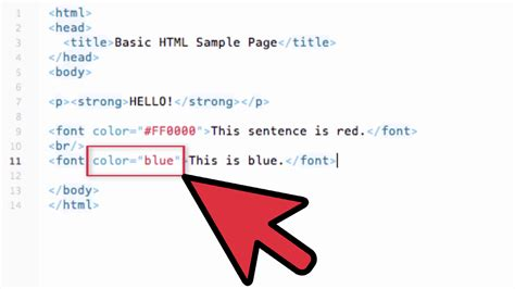 change text color html exles wikihow