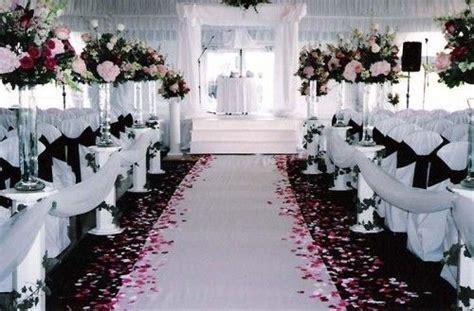pink black white wedding ceremony http weddingcolorthemes wedding