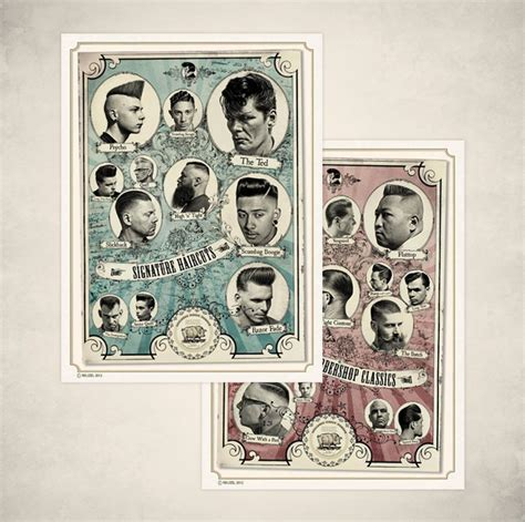 men haircut posters barbershop hairstyle posters