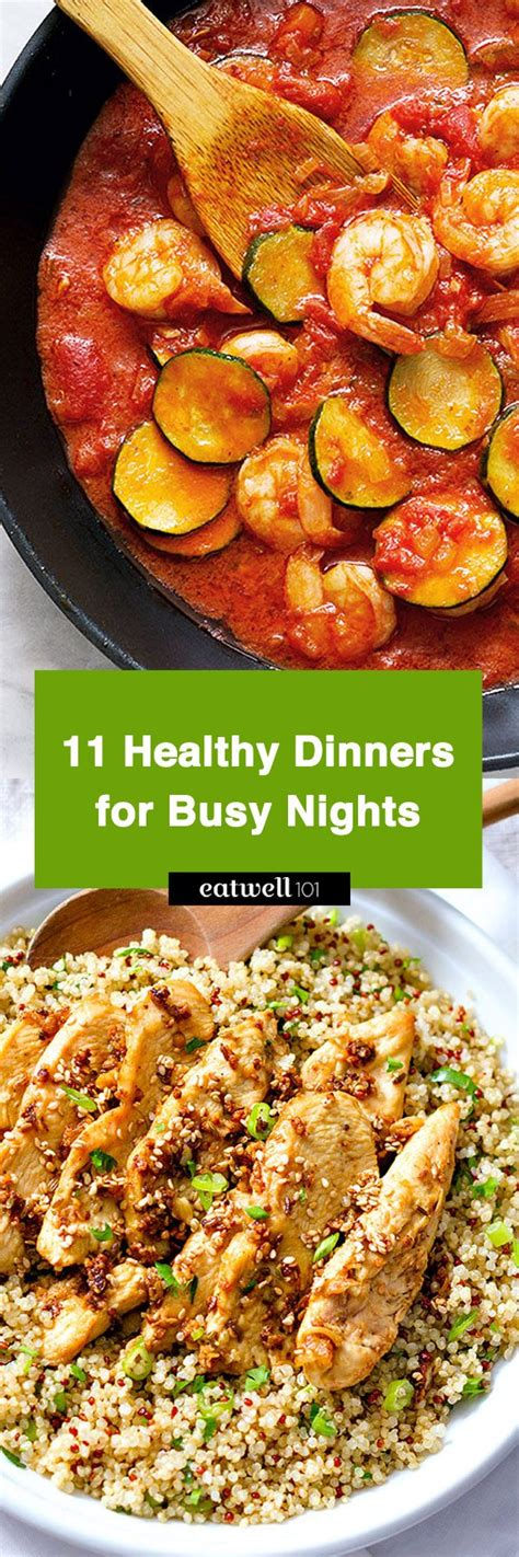 healthy dinner recipes 22 fast meals busy nights