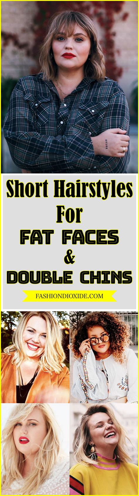 100 short hairstyles fat faces double chins fashiondioxide