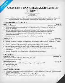 assistant bank manager resume resume sles industries pinterest