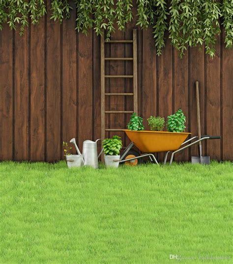 2019 backyard photo background green grass floor tools