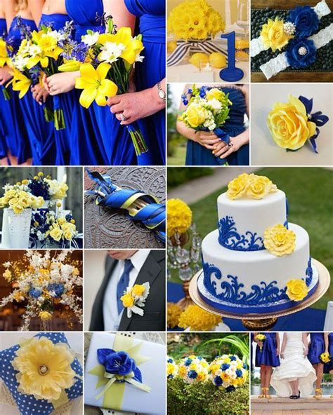 Wedding Decoration Blue And Yellow.html