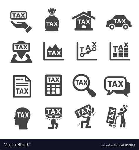 tax icon royalty free vector image vectorstock