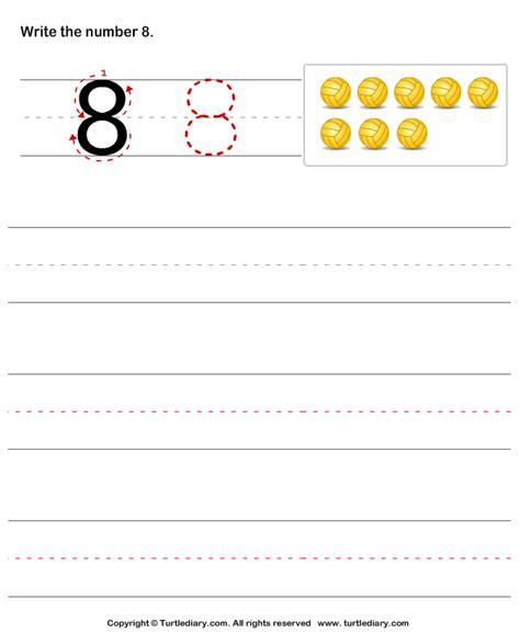 learn write number worksheet turtle diary