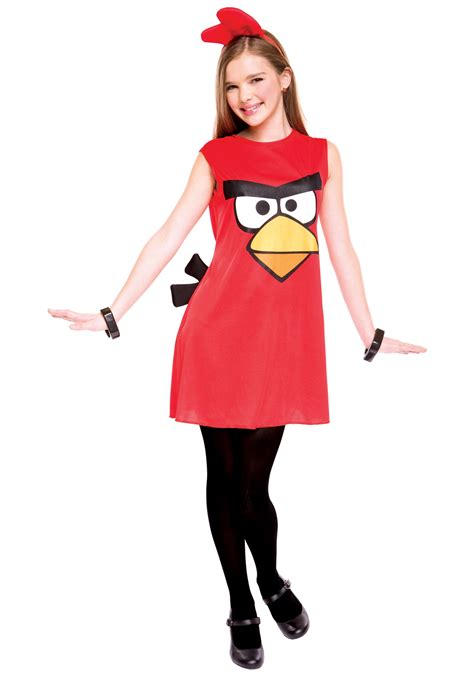 angry birds tween red bird costume