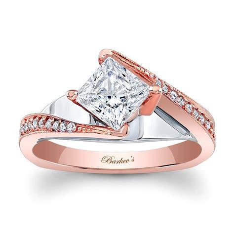barkev designer diamond engagement ring 14kt rose gold