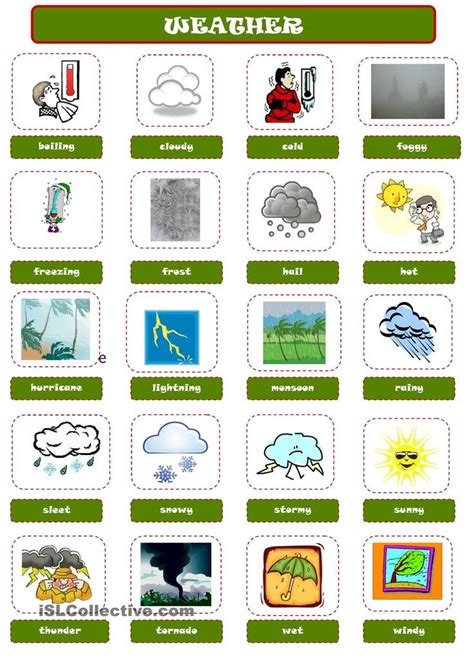 weather pictionary weather pinterest printables