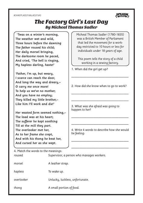 fleet factory girl day worksheet australia pinterest worksheets
