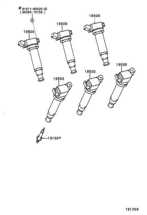 9008091180 spark plug genuine toyota part