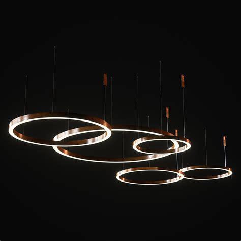 3d modeling henge light ring horizontal set 1