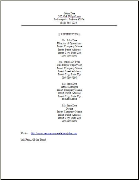 Resume And References Sle.html