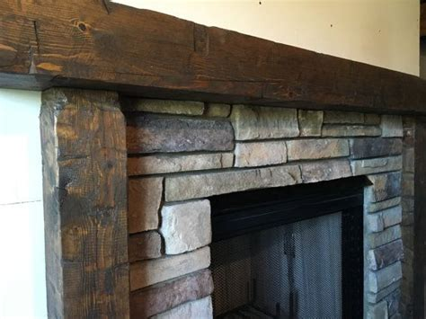 wooden mantel fireplace surround hand hewn mantel rough