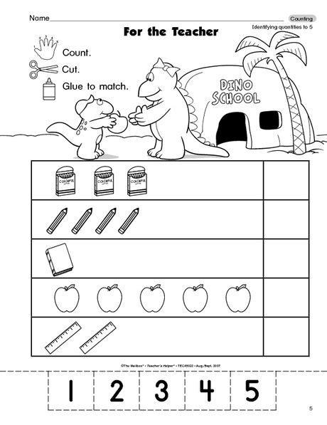 school number sets 5 numbers preschool school worksheets