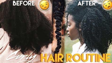 wash day hair routine type 4 curls twist