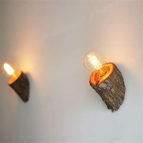 natural wood wall led bathroom wall light