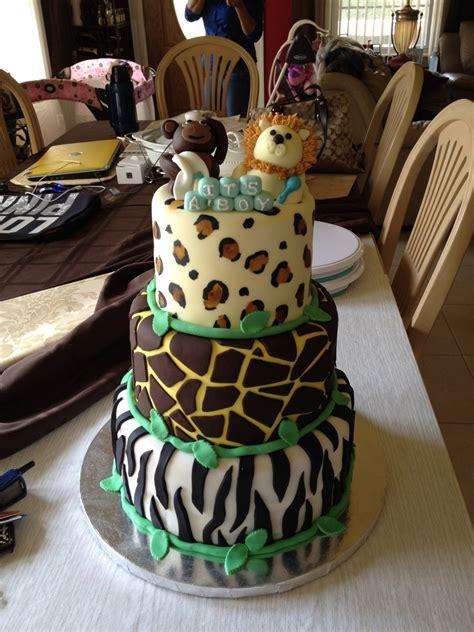 safari baby shower cake cakecentral