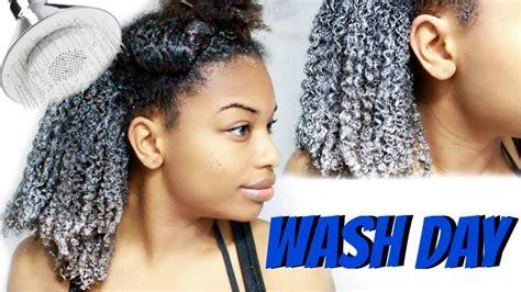 natural hair wash day routine start finish journeytowaistlength
