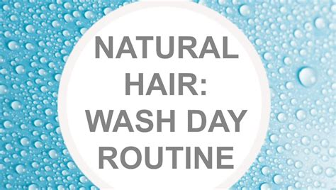 natural hair wash day routine youtube