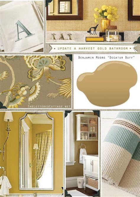 harvest gold bathroom pick presto lettered cottage hmm