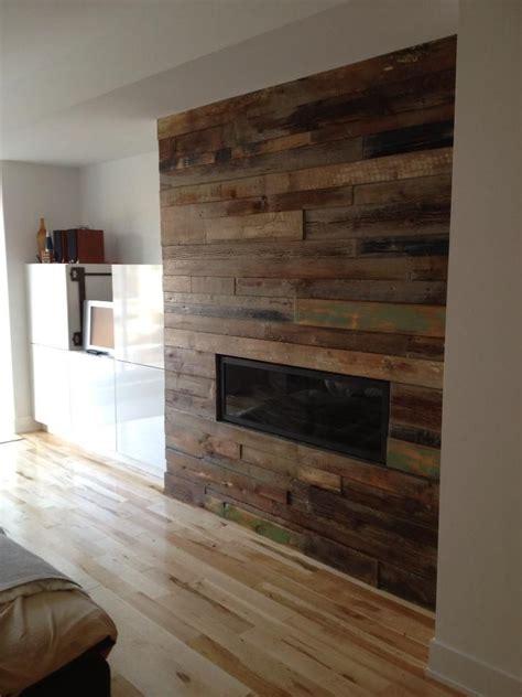 custom reclaimed wood fireplace home