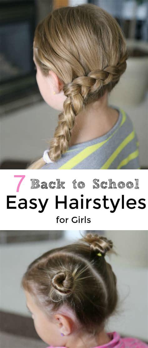7 school easy hairstyles girls