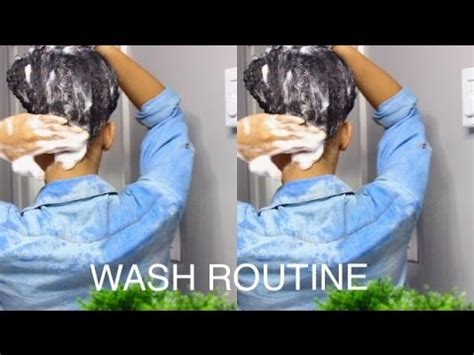 monthly wash routine curly hair shoo youtube
