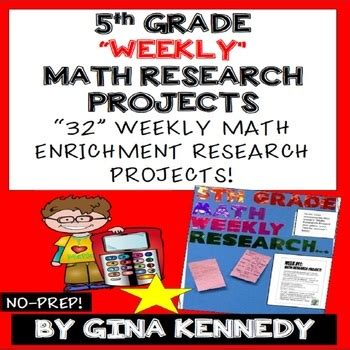 5th grade math projects weekly math enrichment projects