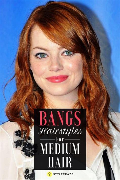 20 incredible medium length hairstyles bangs hairstyles bangs