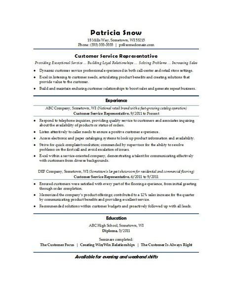 31 free customer service resume exles free template