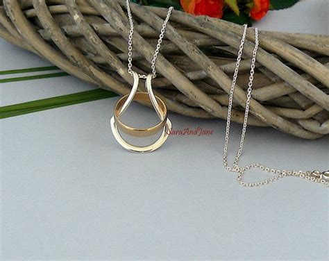 silver ring holder necklace wedding ring holder wife