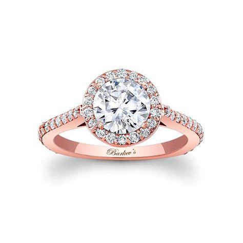 barkev rose gold halo engagement ring diamonds