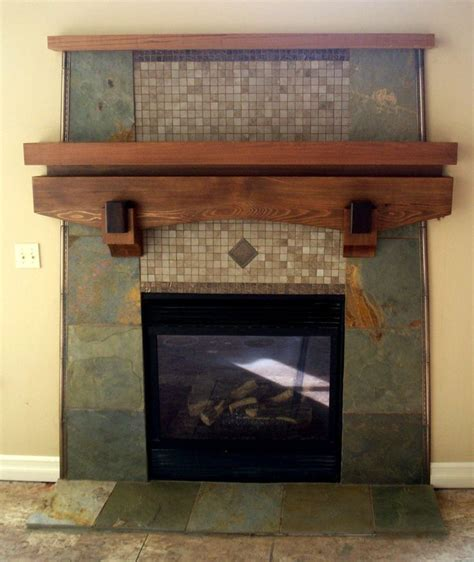 custom slate fireplace cedar mantel fireplaces
